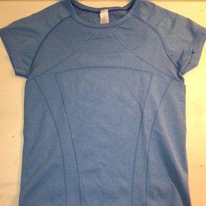 Light Blue Ivivva Girls Short Sleeve Shirt size 12